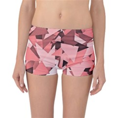 Geo Fun 8 Peach Reversible Boyleg Bikini Bottoms