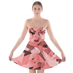 Geo Fun 8 Peach Strapless Bra Top Dress