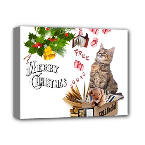 Free books for Christmas Deluxe Canvas 14  x 11