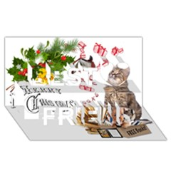 Free books for Christmas Best Friends 3D Greeting Card (8x4)