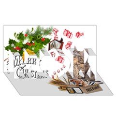 Free books for Christmas MOM 3D Greeting Card (8x4)