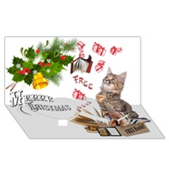Free books for Christmas Twin Heart Bottom 3D Greeting Card (8x4)