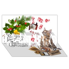 Free books for Christmas BEST BRO 3D Greeting Card (8x4)