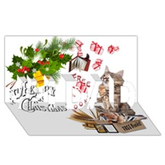 Free books for Christmas #1 DAD 3D Greeting Card (8x4)