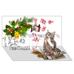 Free books for Christmas PARTY 3D Greeting Card (8x4)