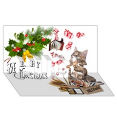 Free books for Christmas HUGS 3D Greeting Card (8x4)