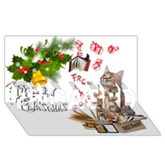 Free books for Christmas ENGAGED 3D Greeting Card (8x4)