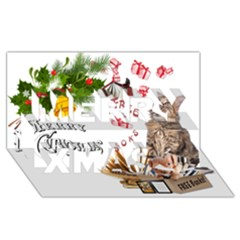 Free books for Christmas Merry Xmas 3D Greeting Card (8x4)