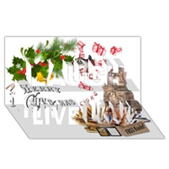Free books for Christmas Laugh Live Love 3D Greeting Card (8x4)