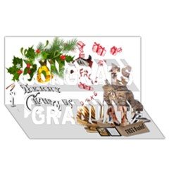 Free books for Christmas Congrats Graduate 3D Greeting Card (8x4)