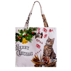 Free books for Christmas Zipper Grocery Tote Bags