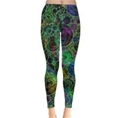 Lovely Allover Bubble Shapes Green Women s Leggings