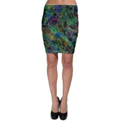 Lovely Allover Bubble Shapes Green Bodycon Skirts