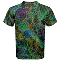 Lovely Allover Bubble Shapes Green Men s Cotton Tees