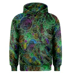 Lovely Allover Bubble Shapes Green Men s Pullover Hoodies