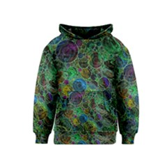 Lovely Allover Bubble Shapes Green Kid s Pullover Hoodies