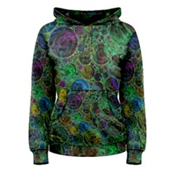 Lovely Allover Bubble Shapes Green Women s Pullover Hoodies