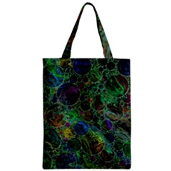 Lovely Allover Bubble Shapes Green Zipper Classic Tote Bags