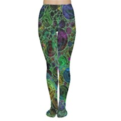 Lovely Allover Bubble Shapes Green Women s Tights