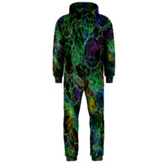 Lovely Allover Bubble Shapes Green Hooded Jumpsuit (men)