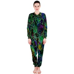 Lovely Allover Bubble Shapes Green Onepiece Jumpsuit (ladies)