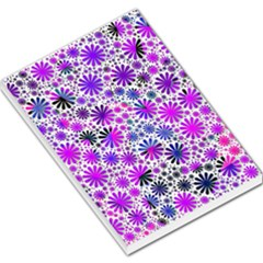 Lovely Allover Flower Shapes Pink Large Memo Pads