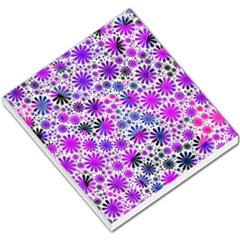 Lovely Allover Flower Shapes Pink Small Memo Pads