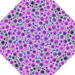 Lovely Allover Flower Shapes Pink Hook Handle Umbrellas (Medium)