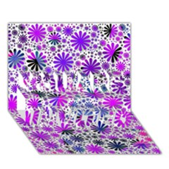 Lovely Allover Flower Shapes Pink YOU ARE INVITED 3D Greeting Card (7x5)