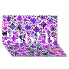 Lovely Allover Flower Shapes Pink #1 DAD 3D Greeting Card (8x4)