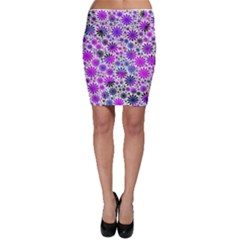 Lovely Allover Flower Shapes Pink Bodycon Skirts