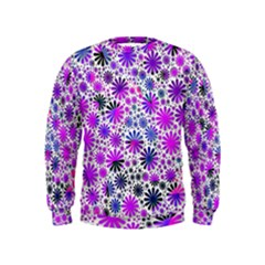 Lovely Allover Flower Shapes Pink Boys  Sweatshirts