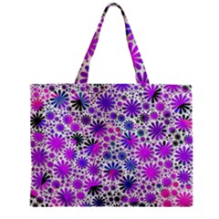 Lovely Allover Flower Shapes Pink Zipper Tiny Tote Bags