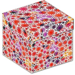 Lovely Allover Flower Shapes Storage Stool 12
