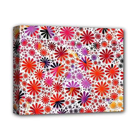 Lovely Allover Flower Shapes Deluxe Canvas 14  x 11