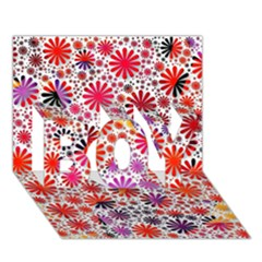 Lovely Allover Flower Shapes BOY 3D Greeting Card (7x5)