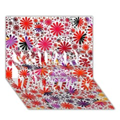 Lovely Allover Flower Shapes YOU ARE INVITED 3D Greeting Card (7x5)