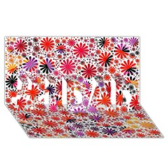 Lovely Allover Flower Shapes #1 DAD 3D Greeting Card (8x4)