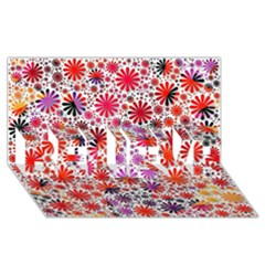 Lovely Allover Flower Shapes BELIEVE 3D Greeting Card (8x4)