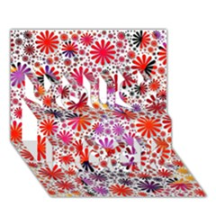 Lovely Allover Flower Shapes You Rock 3d Greeting Card (7x5)