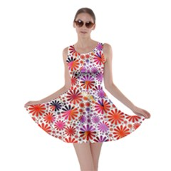 Lovely Allover Flower Shapes Skater Dresses