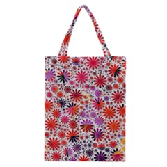 Lovely Allover Flower Shapes Classic Tote Bags