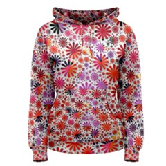 Lovely Allover Flower Shapes Women s Pullover Hoodies