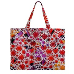 Lovely Allover Flower Shapes Zipper Tiny Tote Bags