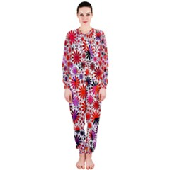 Lovely Allover Flower Shapes Onepiece Jumpsuit (ladies)