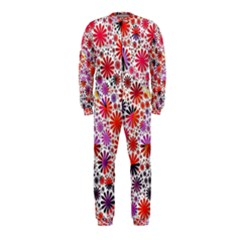 Lovely Allover Flower Shapes Onepiece Jumpsuit (kids)