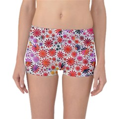 Lovely Allover Flower Shapes Boyleg Bikini Bottoms