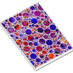 Lovely Allover Hot Shapes Blue Large Memo Pads