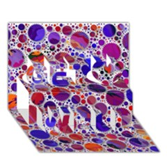 Lovely Allover Hot Shapes Blue Get Well 3D Greeting Card (7x5)