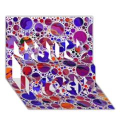 Lovely Allover Hot Shapes Blue You Rock 3D Greeting Card (7x5)